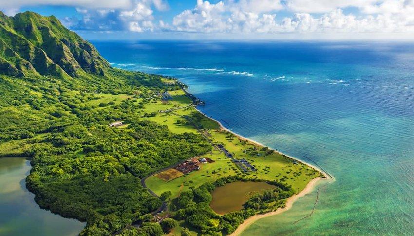 Aerial photo of Oahu