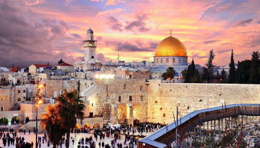 Photo of Jerusalem at dusk