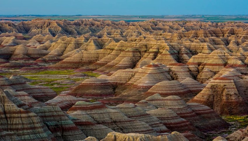 Photo of mountains in Badlands National Park