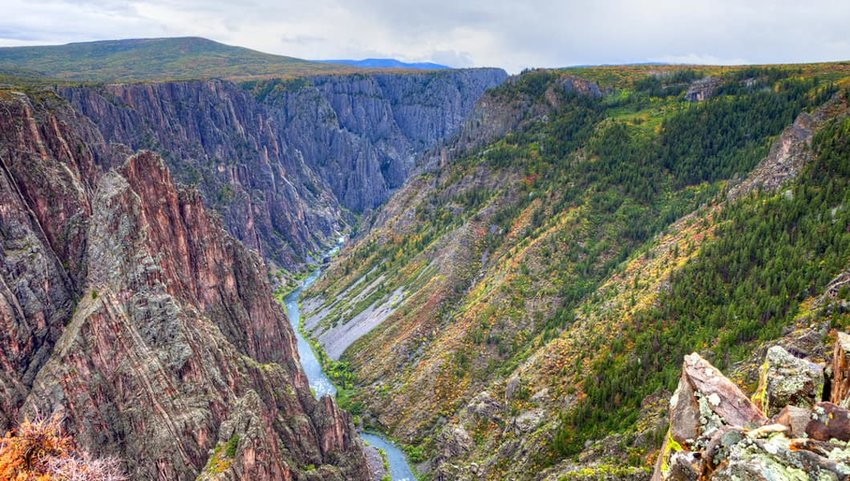 Photo of canyon river running through Black Canyon of the Gunnison National Park