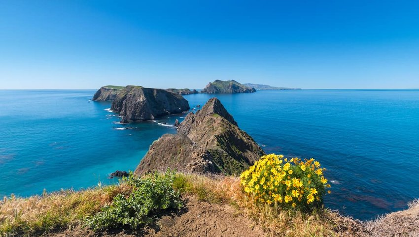 Photo of mountainous islands in Channel Islands National Park