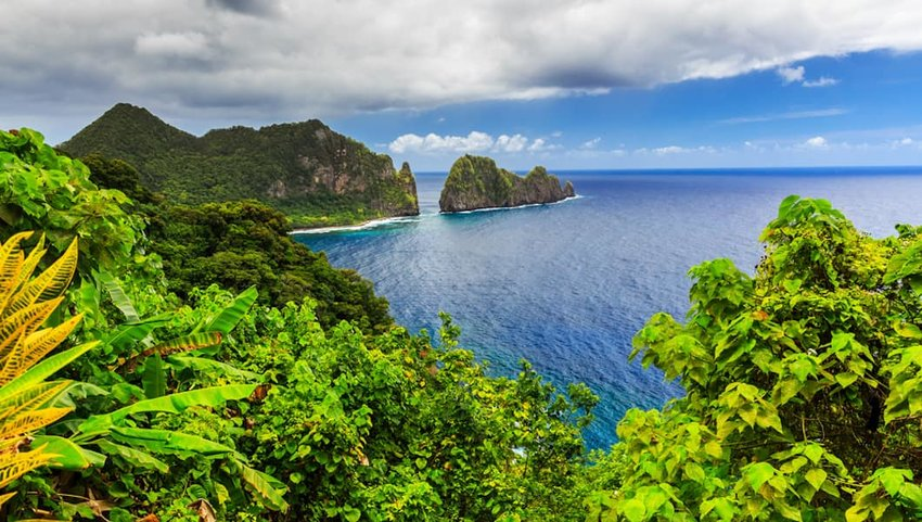 Photo of beach and ocean in American Samoa National Park