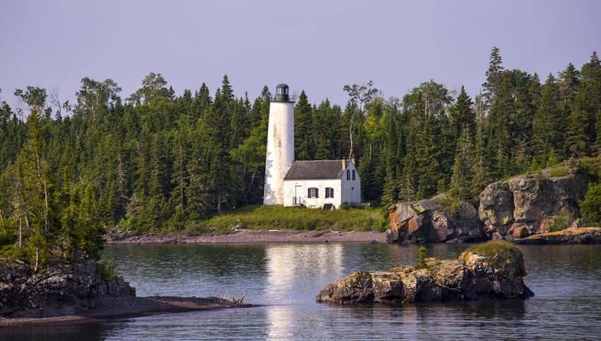 Photo of lighthouse in Isle Royale National Park