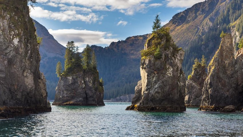 Photo of beautiful fjords in Kenai Fjords National Park