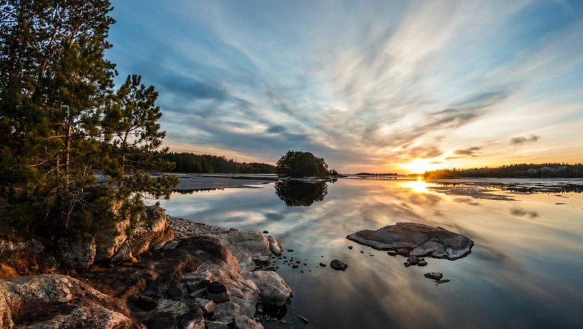 Photo of lake in Voyageurs National Park
