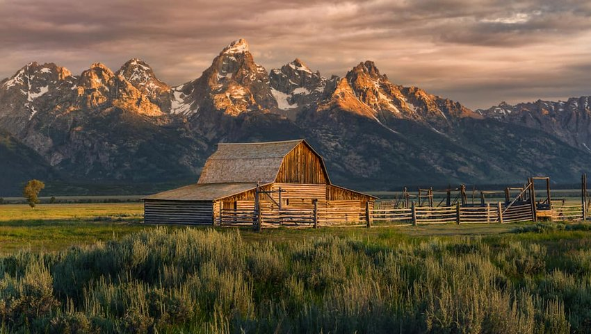 Photo of a wooden barn in Grand Teton National Park