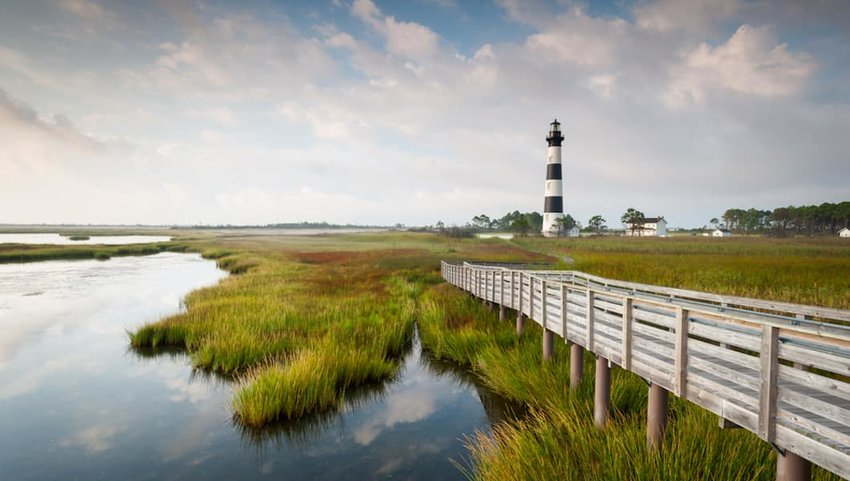 lighthouse-on-the-outer-banks-Cape-Hatteras-National-Seashore