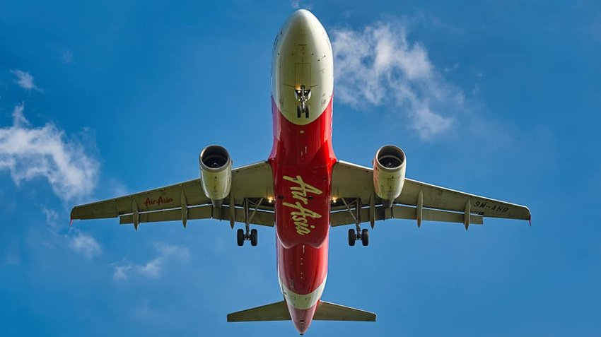 Photo of an Air Asia plane