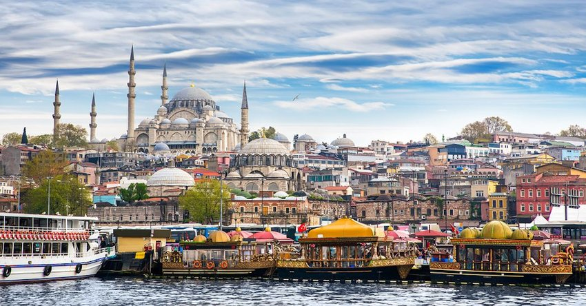 City view of Istanbul on the water
