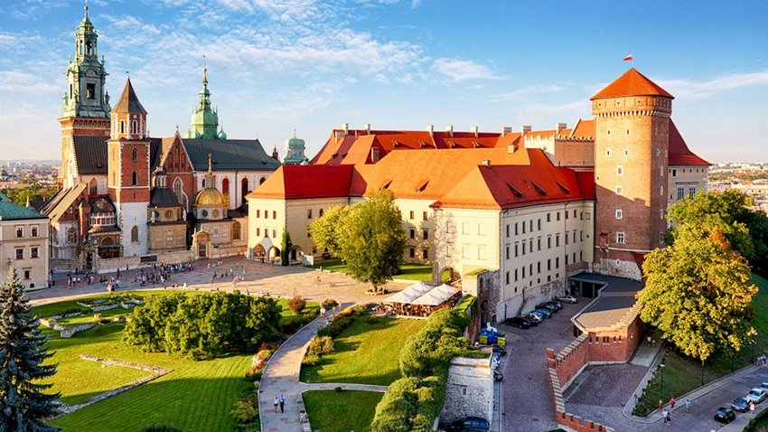 View of Wawel castle in Krakow