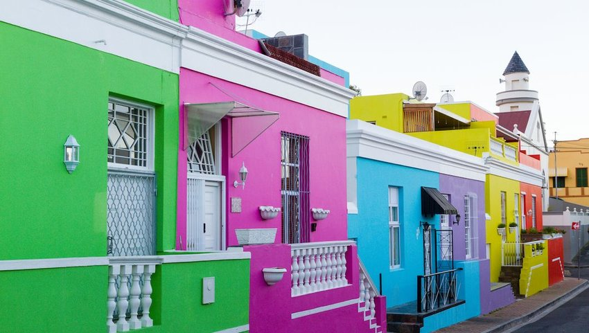 "The self-catering accommodation ""Green House"" is set among colorful18th century houses in the historic Muslim neighborhood of Bo-Kaap, or the Malay Quarter"