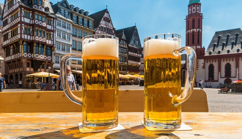 German beer in Frankfurt
