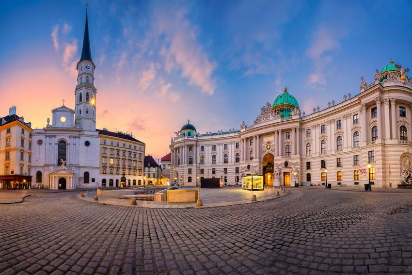 City square in Vienna