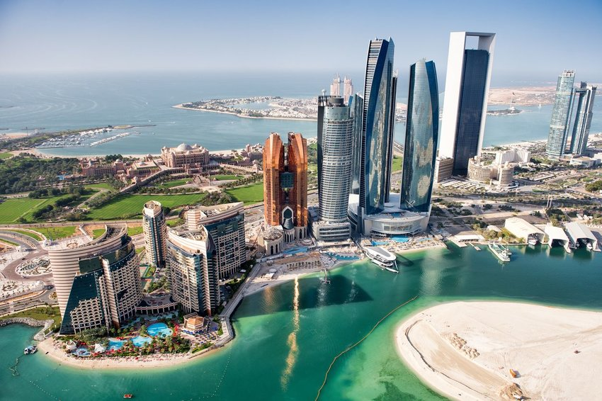 Aerial photo of Abu Dhabi