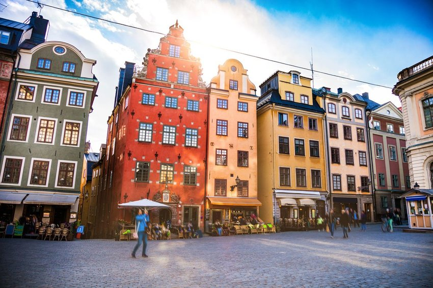 Photo of colorful buildings in Stockholm