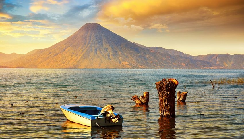 Photo of Sunset at Lake Atitlan, Guatemala