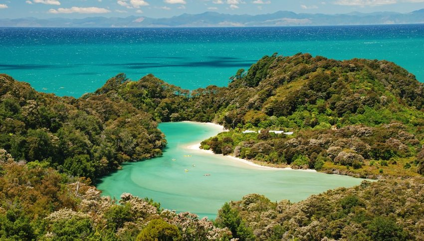 View of bay in Abel Tasman National Park