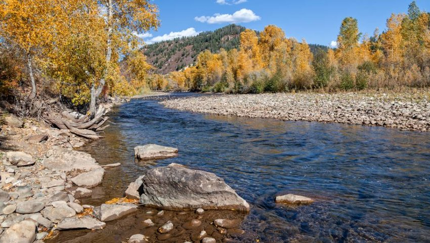 Dolores River, Colorado in the fall.