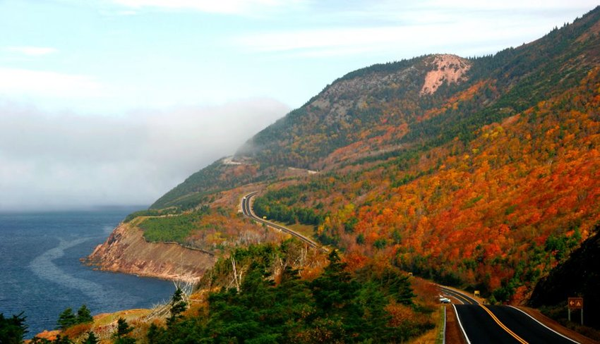 autumn colours on the winding roads of Cape Breton's Cabot Trail