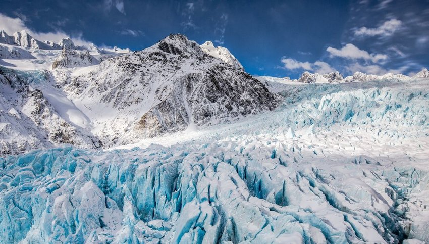 View of Franz Josef Glacier, New Zealand