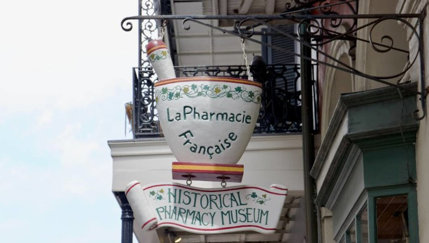 New Orleans, Louisiana / USA. Historical pharmacy museum in New Orleans
