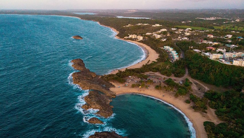Aerial photo of Playa Mar Chiquita in Maniti, Puerto Rico