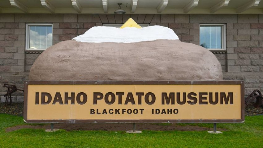 BLACKFOOT, IDAHO, Giant Baked Potato at the Idaho Potato Museum.