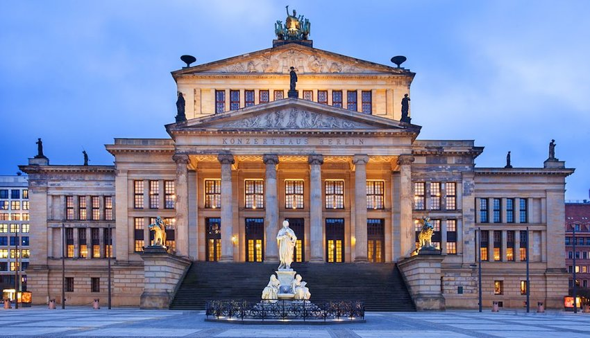 Exterior of the Wiener Konzerthaus theatre in Germany