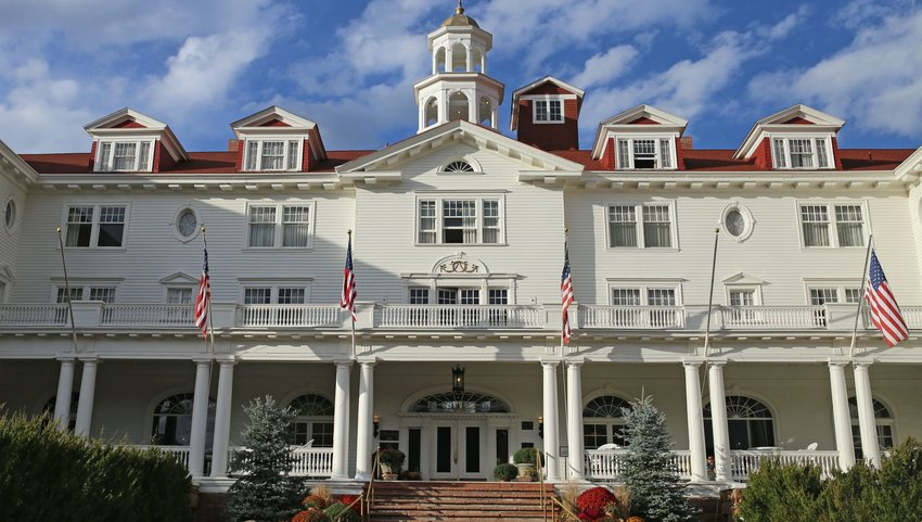 Exterior of the Stanley Hotel in Estes Park, Colorado
