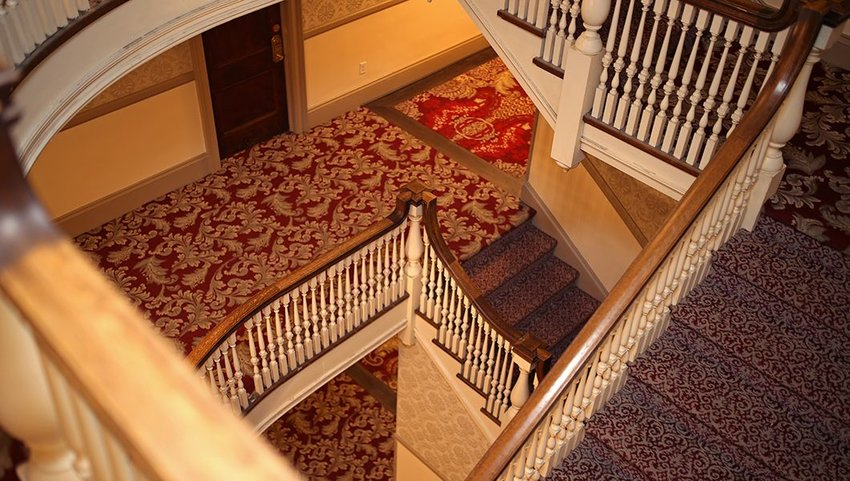 Staircases in a spiral in the Stanley Hotel