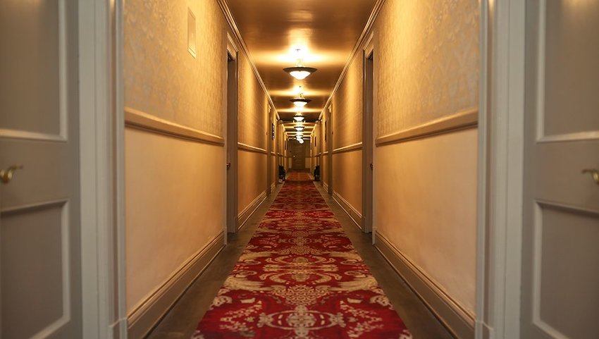 Empty hallway in the Stanley hotel