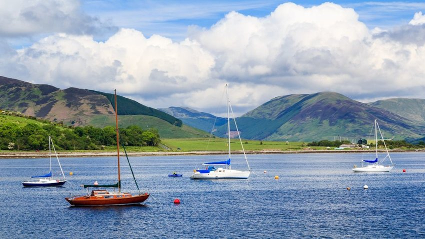 Boats at Port Bannatyne on the Isle of Bute