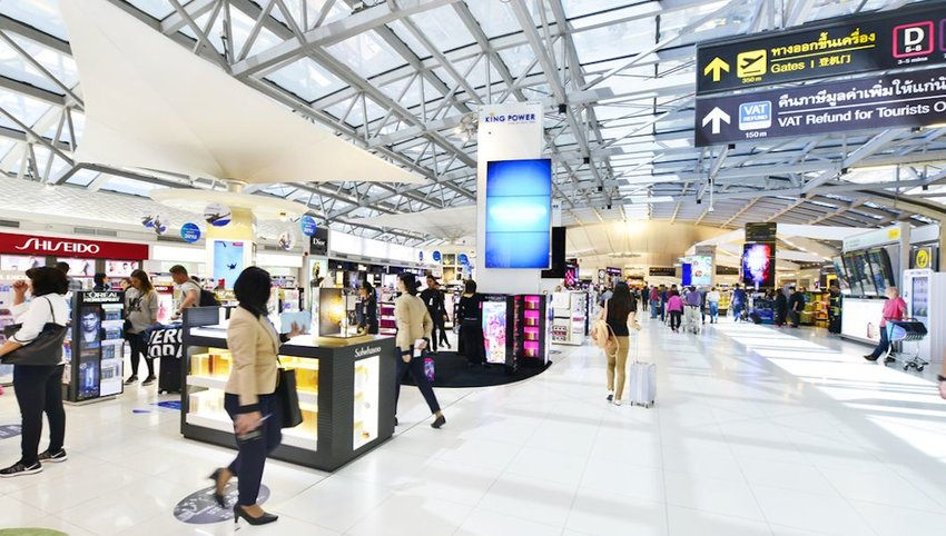 Shopping area in Bangkok airport