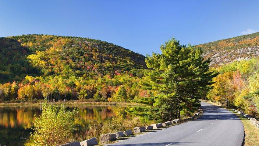 Beaver Dam Pond and Park Loop Road, Acadia National Park, Maine