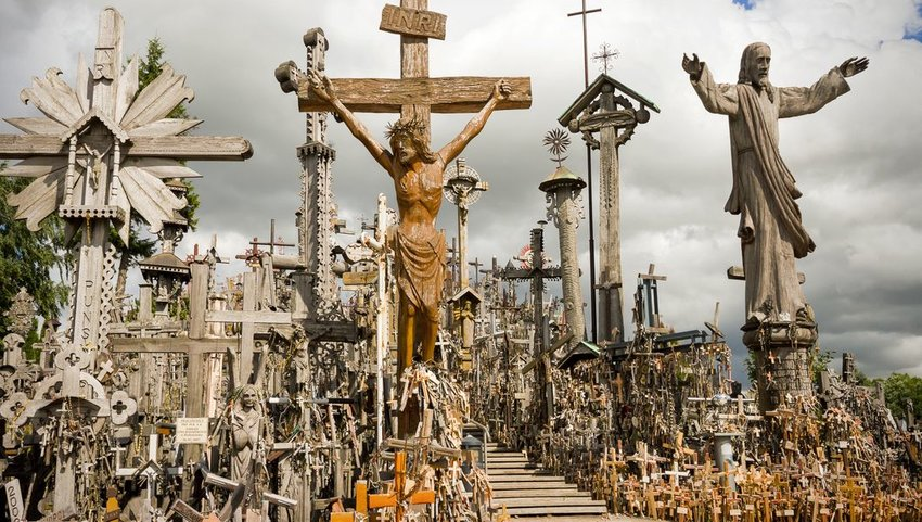 Hill of Crosses in northern Lithuania