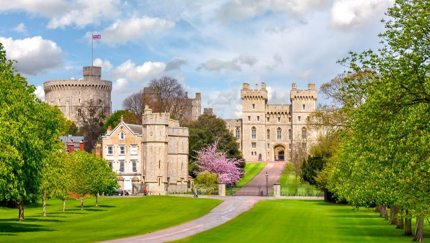 Windsor Castle in the spring, London suburbs, United Kingdom