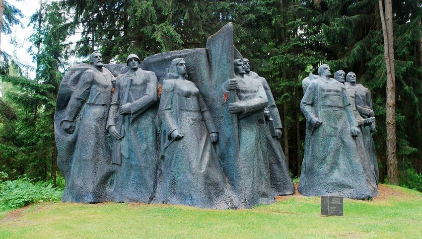 Soviet-era sculptures in Grutas Park near Druskininkai, Lithuania