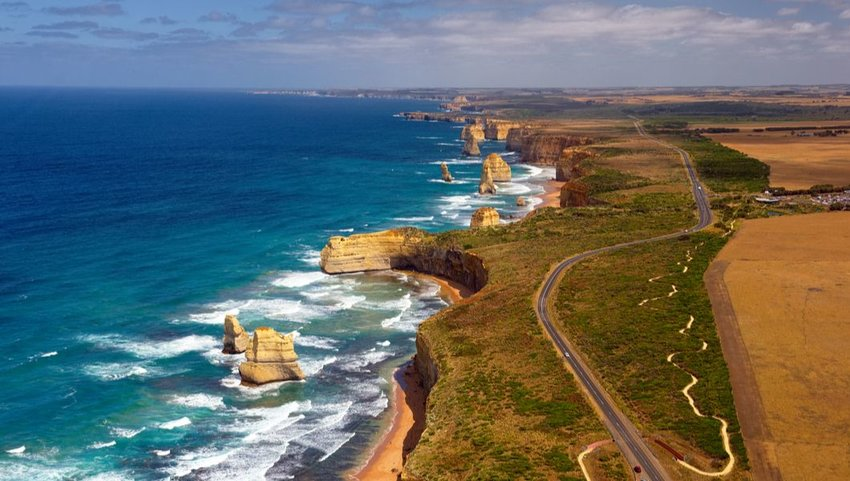Great Ocean Road and the Twelve Apostles, Port Campbell National Park, Victoria, Australia