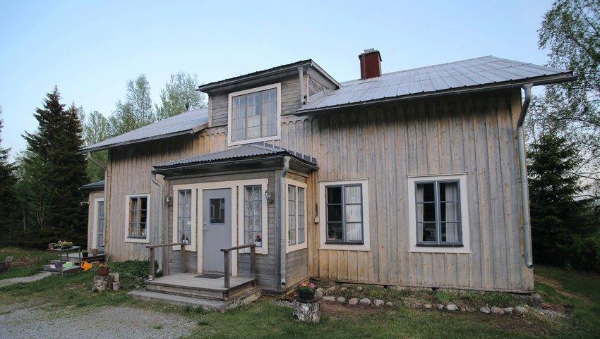 Front view of Spoekpraestgaard, a small haunted cottage, Borgvattnet, Sweden