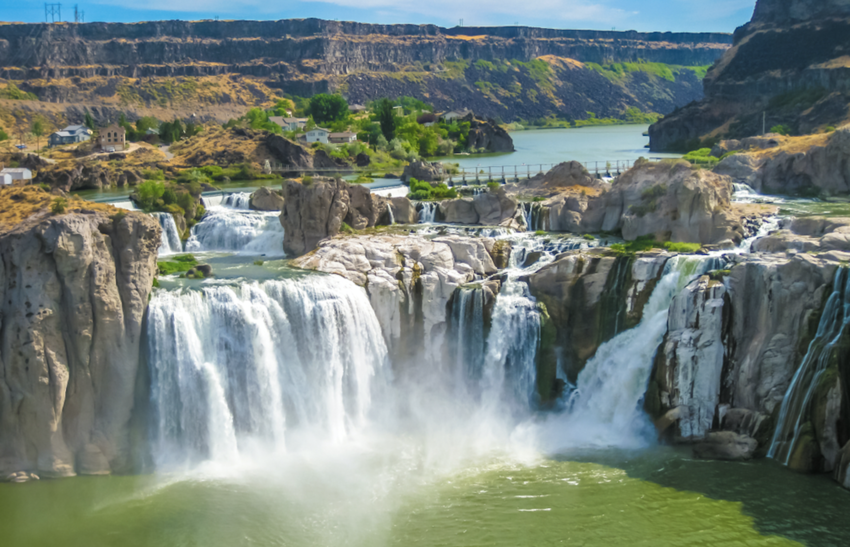 Aerial view of Shoshone Falls or Niagara of the West, Snake River