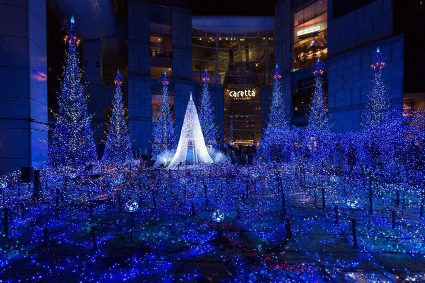 Christmas illumination in Tokyo, Japan