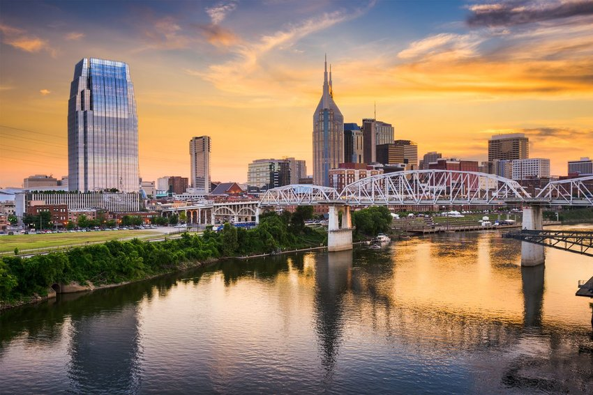 Skyline of downtown Nashville, Tennessee
