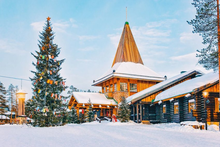 Santa Claus Office at Santa Claus Village in Rovaniemi in Lapland