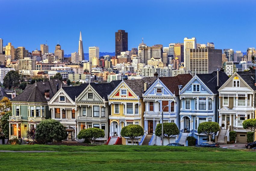 The Painted Ladies in San Francisco, California
