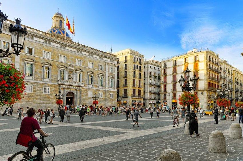 Placa de Sant Jaume in Barcelona, Spain