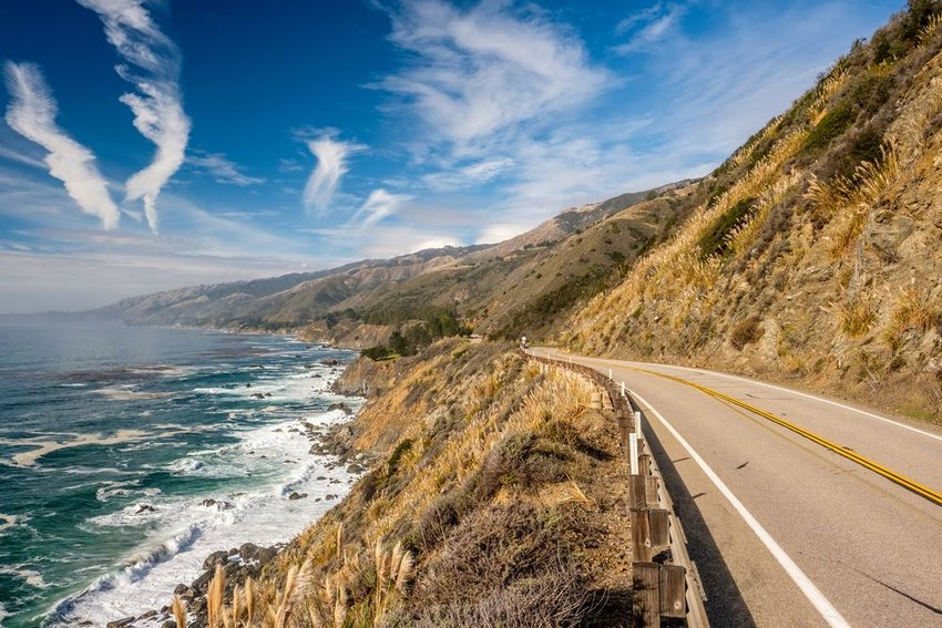 Pacific coast highway along the coast of California