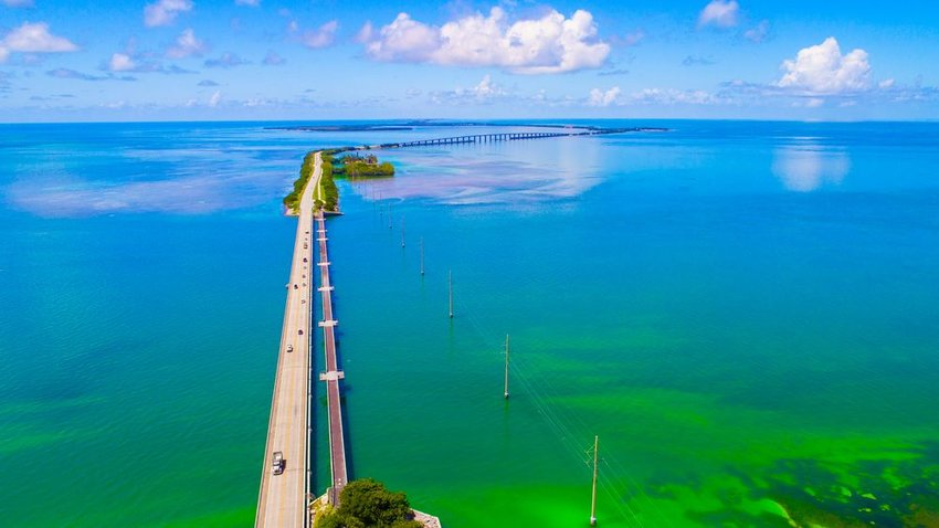 Aerial view of The Overseas Highway