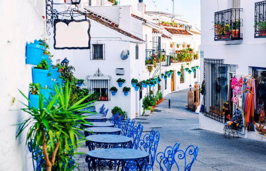 Charming white village in Andalusia, Costa del Sol