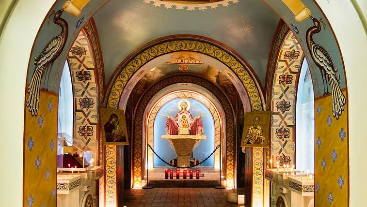 Interior of St. Photios National Greek Orthodox Shrine