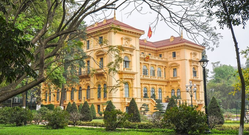 Exterior view of Presidential Palace